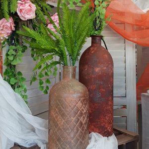vintage μπουκάλια σε φτθινοπωρινά χρώματα για center piece