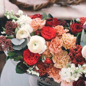 λούλούδια σε φθινοπωρινά χρώματα