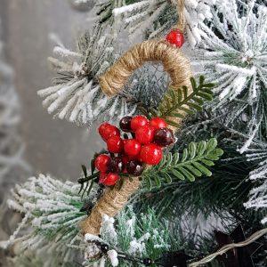 χριστουγεννιάτικα στολίδια χειροποίητα: diy γλυφιτζούρι από σπάγκο