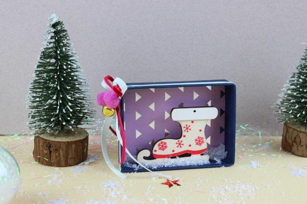 χριστουγεννιάτικες κατασκευές για παιδικά κουτάκι DIY με χριστουγεννιάτικο θέμα