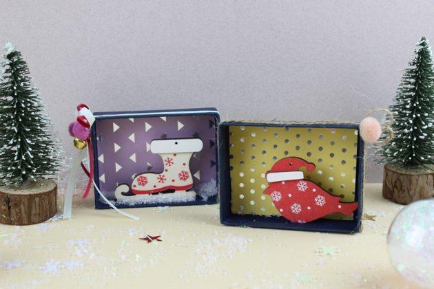 χριστουγεννιάτικες κατασκευές για παιδιά 3d Κουτάκια