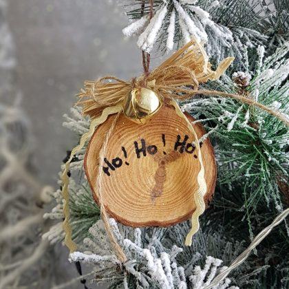 Ρουστίκ χριστουγεννιάτικο στολίδι