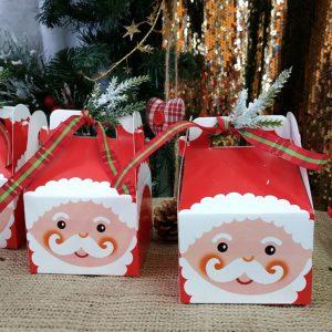 Δωράκια για καλεσμένους: δωράκια για παιδιά σε κουτάκι άγιος βασίλης