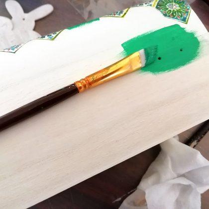 βαμμένο κουτί για λαμπάδα