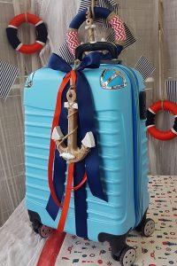 θέμα βάπτισης αγόρι ναυτικό: βαλίτσα βάπτισης