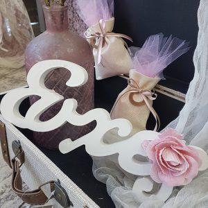ξύλινο διακοσμητικό ευχές για διακόμσηση γάμου