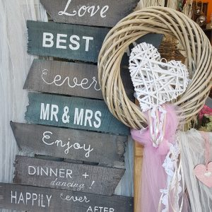 vintage Πινακιδες ξύλινες για διακόσμηση γάμου