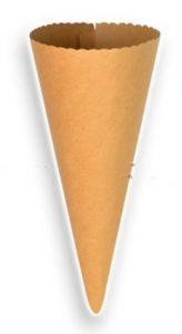 Χάρτινος κώνος σε φυσικό χρώμα