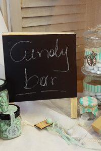 μαυροπινακας τετραγωνος για candy bar