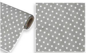 Γκρι ύφασμα με λευκά αστεράκια
