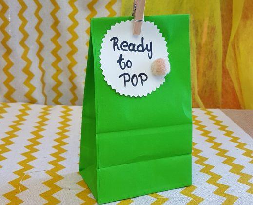 baby shower διακόσμηση, χάρτινο σακουλάκι για γλυκίσματα