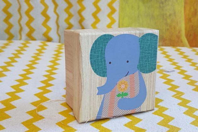 Ξύλινο κουτάκι ελέφαντας για δωράκι καλεσμένου