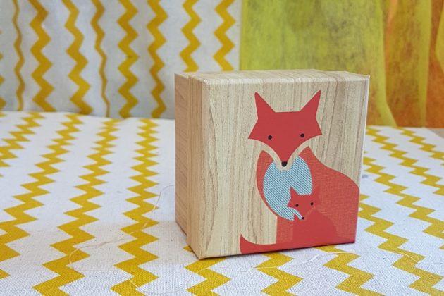 ξύλινο κουτάκι αλεπού