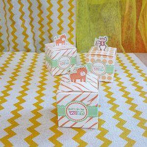 Χάρτινα πολύχρωμα κουτάκια με ζωάκια