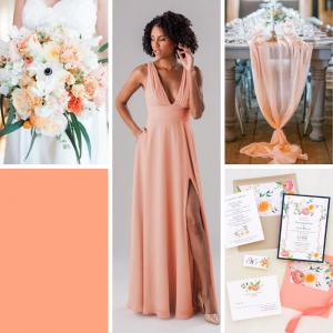 γάμος 2020 χρώμα cantaloupe