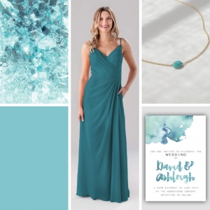 κρυσταλλικό μπλε: χρώμα για γάμο 2020