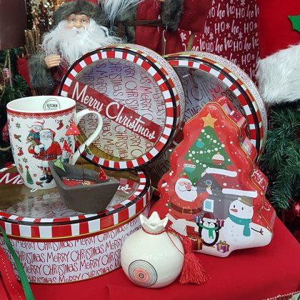 διάφορα χριστουγεννιάτικα κουτιά