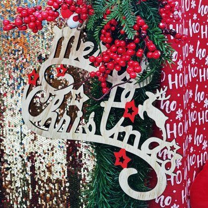 ξύλινο διακοσμητικό merry christmas