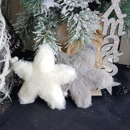 χρισττουγεννιάτικα στολίδια γούνινα αστέρια