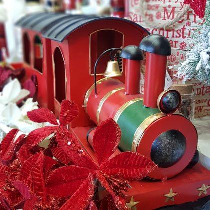 Κόκκινο χριστουγεννιάτικο τρένο