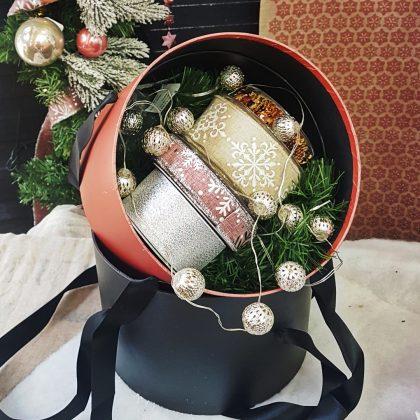 Χριστουγεννιάτικες κορδέλες σε ροζ και χρυσό