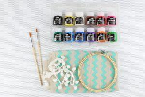 υλικά για παιδικά στολίδια με τελάρα κεντήματος