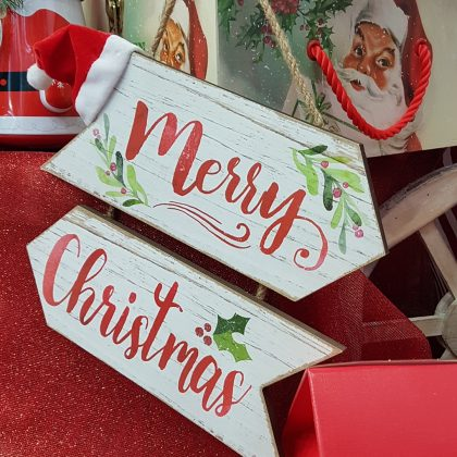 χριστουγεννιάτικη κρεμαστή πινακίδα