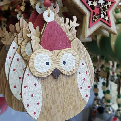 χριστουγεννιάτικο στολίδι κουκουβάγια