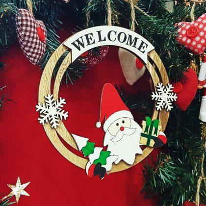 ξύλινο χριστουγεννιάτικο διακοσμητικό