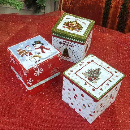 χριστουγεννιάτικα κουτιά για δωράκι ή για να βάλετε γλυκά