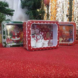 μεταλλικά χριστουγεννιάτικα κουτιά για να προσφέρετε τα γλυκά σας
