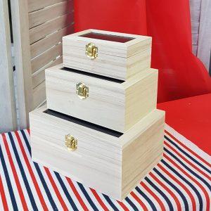 ξύλινα κουτιά για ντεκουπάζ
