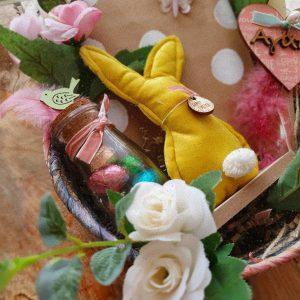 πασχαλινά δώρα: πασχαλινό χειροποίητο καλαθάκι για δώρο σε φίλους