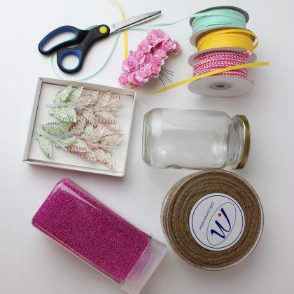 κατασκευές με βάζα: υλικά για μικρό ανοιξιάτικο βαζάκι