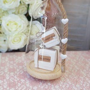 μπομπονιέρες γάμου vintage: κουτάκια χάρτινα με μήνυμα ευχαριστούμε