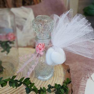 μπομπονιέρες γάμου vintage με ρετρό μπουκαλάκια