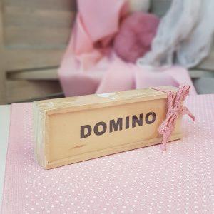 μπομπονιέρα ντόμινο για βάπτιση κοριτσιού