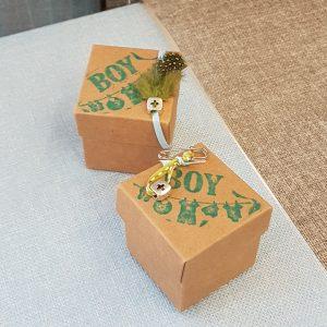 κραφτ κουτάκι για μπομπονιέρα βάπτισης αγοριού