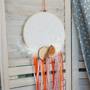 DIY φθινοπωρινή διακόσμηση με κρεμαστή κατασκευή τελάρο κεντήματος & φθινοπωρινά υλικά
