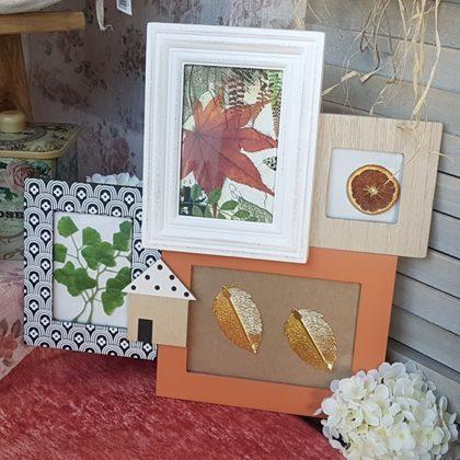 ξύλινη κορνίζα για φθινοπωρινή διακόσμηση
